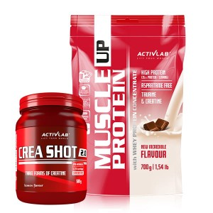 Muscle Up Protein 700g + Crea Shot 2.0 500g