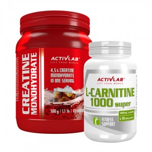 L-Carnitine 1000 Super 30 caps + Creatine Monohydrate COLA 500g