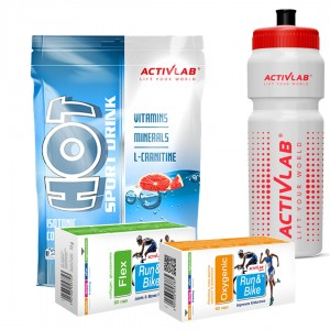 Flex + Oxygenic +  Hot Sport Drink + Bidon