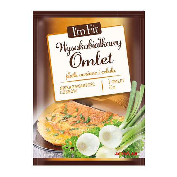 Wysokobiałkowy omlet płatki owsiane i cebula